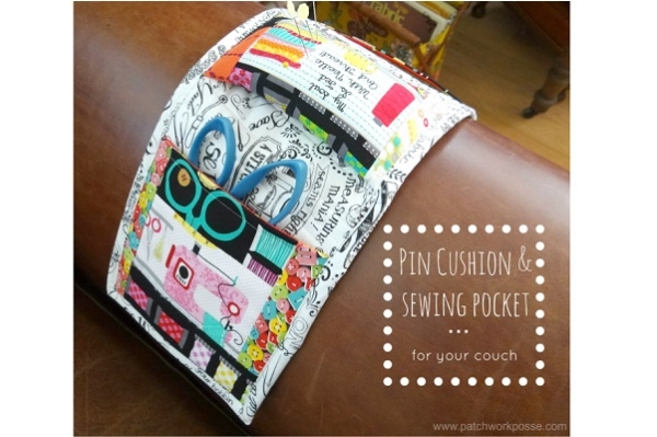 Tutorial: Pincushion and sewing pocket for your couch