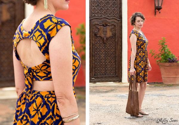 Free pattern: Tie back summer dress