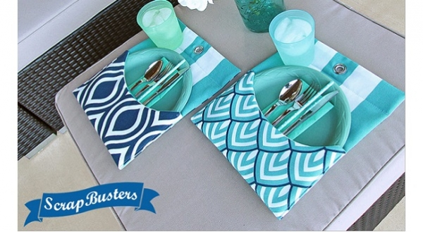 Tutorial: Mini pocket placemats for outdoor dining