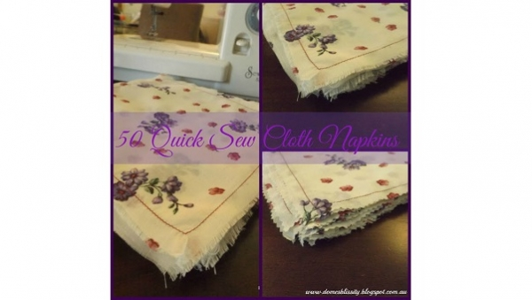 Tutorial: Quick sew fabric napkins you can make in large quantity