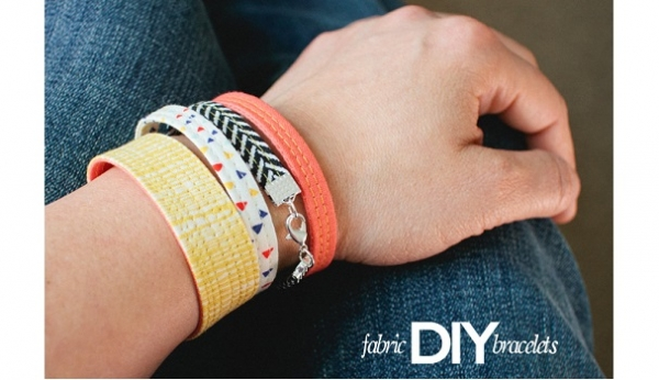 Tutorial: Scrap fabric bracelets