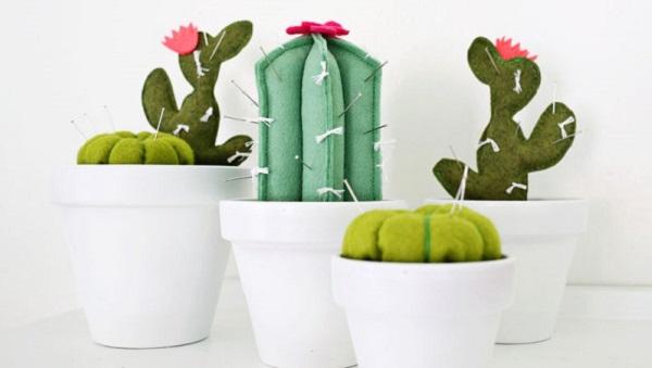 Tutorial: Cactus pincushion in 3 variations