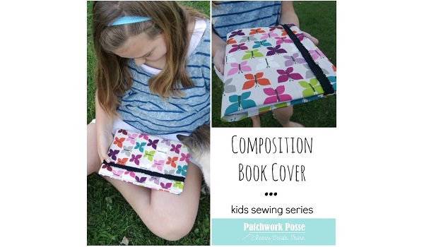Tutorial: Fabric composition book cover