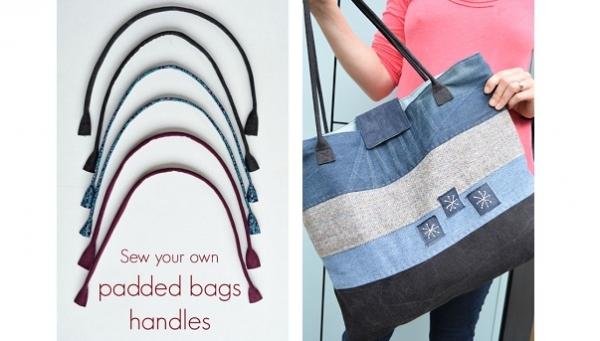 Tutorial: DIY padded fabric bag handles
