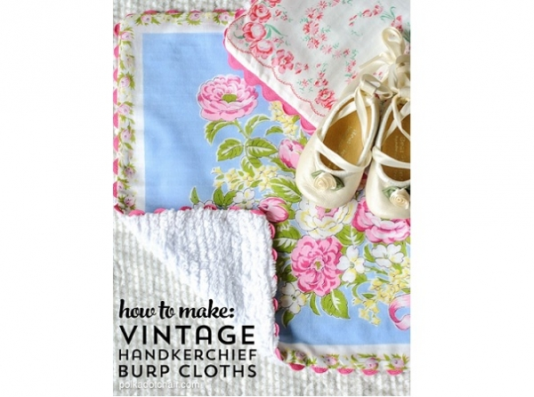 Tutorial: Vintage hankie burp cloths