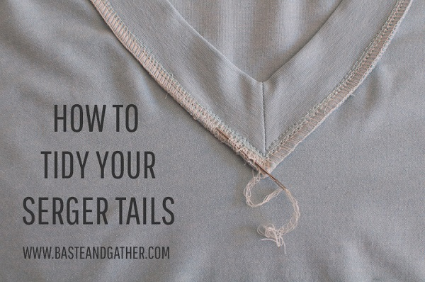 Tutorial: Easy way to finish your serger thread tails