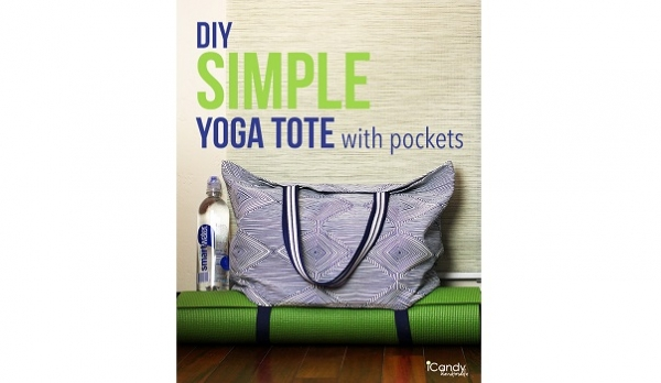 Tutorial: Simple yoga tote with mat straps