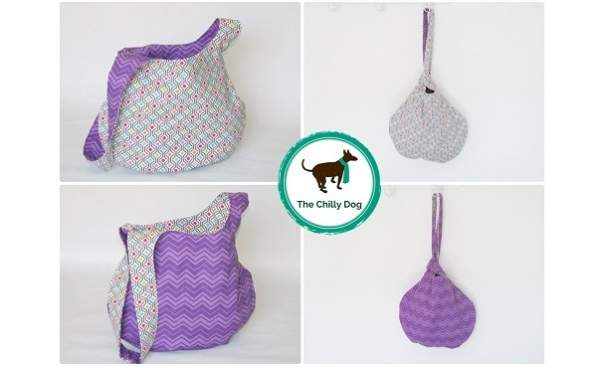 Free pattern: Reversible Japanese Knot Bag