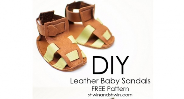 Free pattern: Leather sandals for a newborn