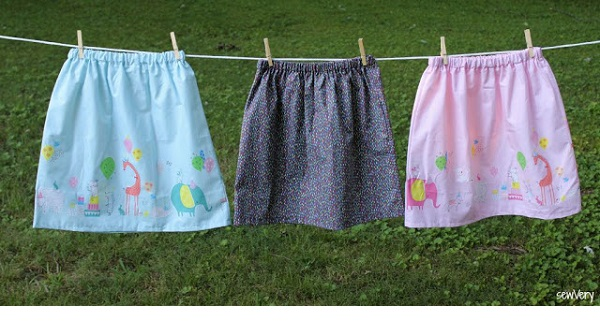 Tutorial: Make a girls' gathered skirt with just one seam