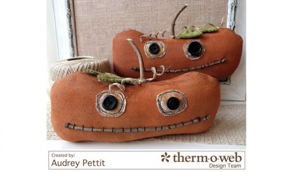 Tutorial: Primitive Halloween pumpkin softies