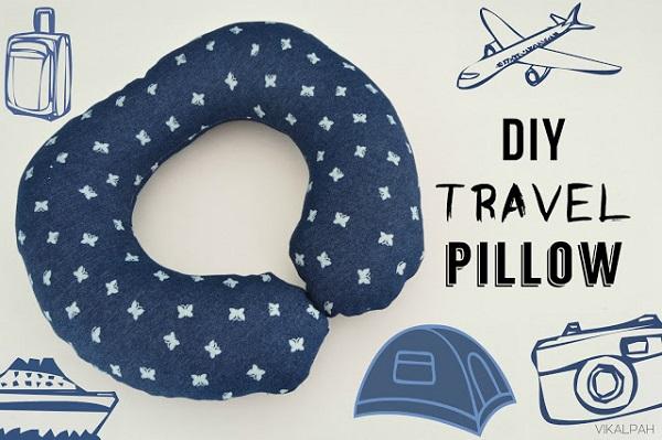 Free Pattern Travel Neck Pillow Sewing