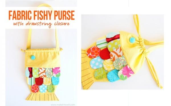 Tutorial: Fabric Fishy Purse