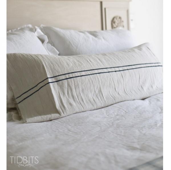 Tutorial: Grain sack pillow from a drop cloth