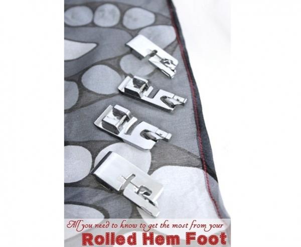 Tutorial: Make a narrow hem on your sewing machine with a rolled hem foot