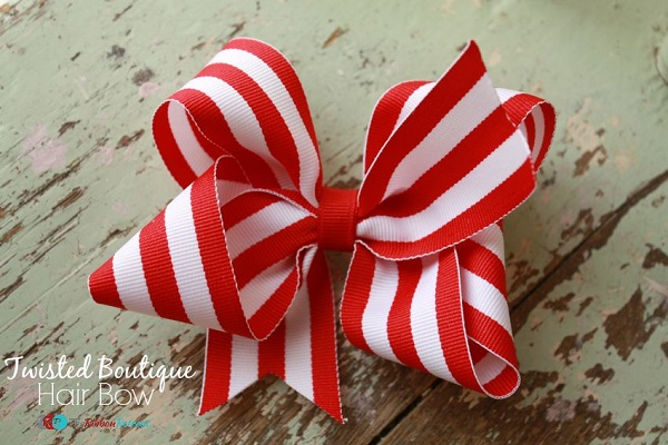 Tutorial: Boutique style twisted hair bow