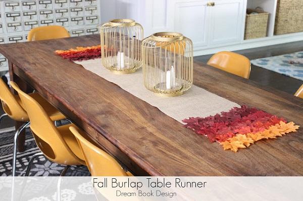 Tutorial: No-sew burlap table runner