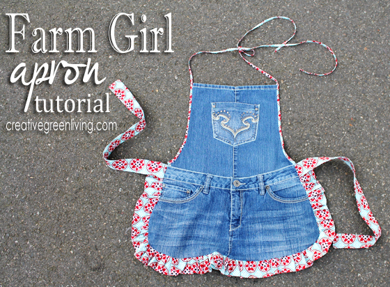 Tutorial: Recycled jeans apron