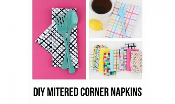 Tutorial: Fabric dinner napkins with mitered corners