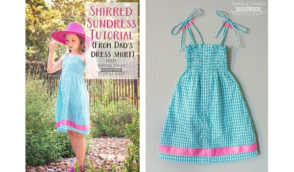 Tutorial: Little girl's sundress from dad's dress shirt