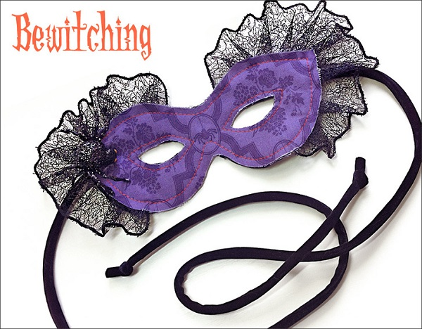 Free pattern: Fabric masquerade mask