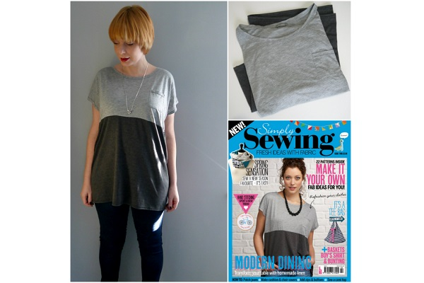 Tutorial: Easy color block t-shirt refashion