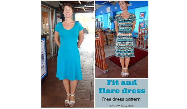 Free Pattern Fit And Flare Dress Sewing