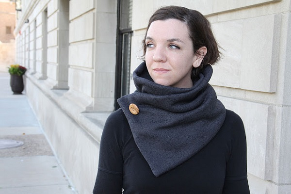 Tutorial: Fleece button wrap cowl