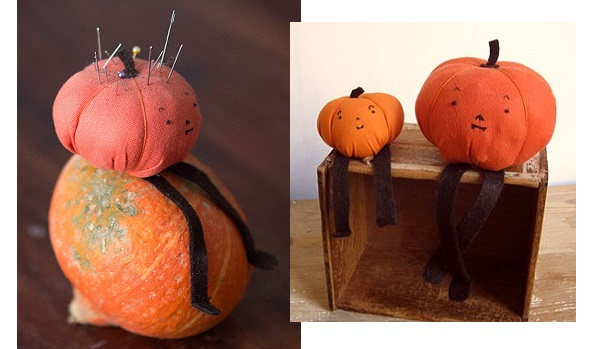 Tutorial: Mr. Pumpkin softie or pincushion