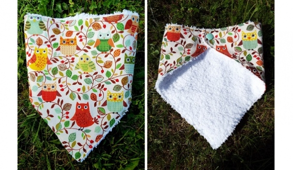 Tutorial: Fat quarter bandana snap bib