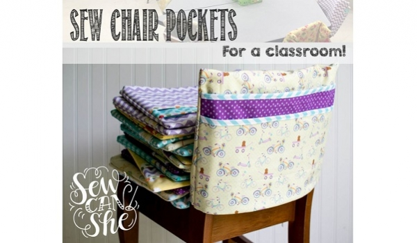 Tutorial: Chair pockets for a classroom - fast, easy, and cute