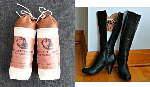 Tutorial: Coffee sack boot shapers