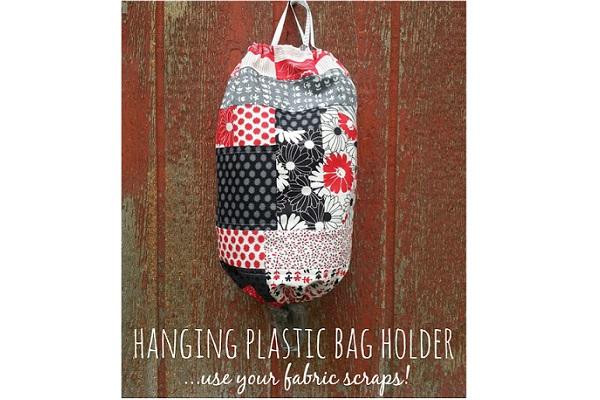 Tutorial: Patchwork hanging plastic bag holder