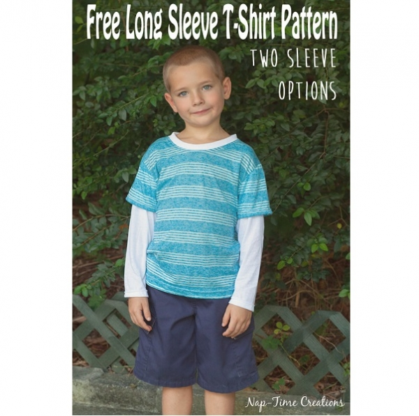 Free pattern: Boys long sleeved shirt with two sleeve options