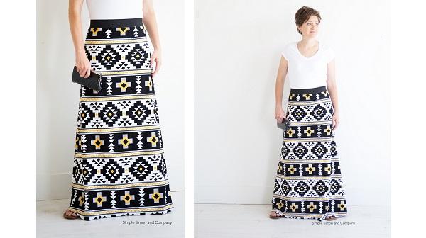 Free pattern: Simple Maxi Skirt