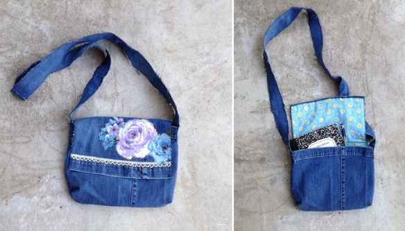 Tutorial: Make a messenger bag from an old pair of jeans