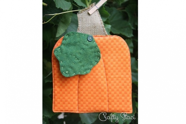 Free pattern: Pumpkin hot pad