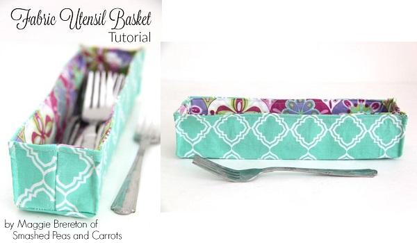 Tutorial: Fabric flatware basket