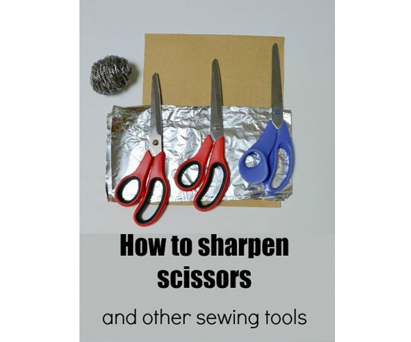 Tutorial: 3 ways to sharpen you sewing scissors