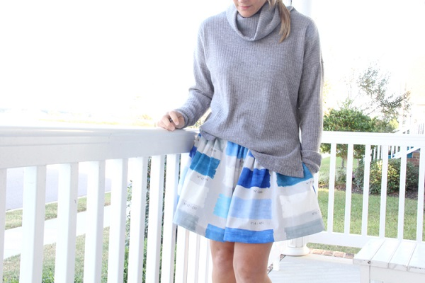 Tutorial: Turtleneck sweater with side vents, and a matching skirt