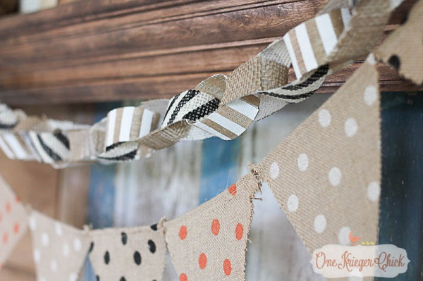 Tutorial: No-sew fabric ribbon garland