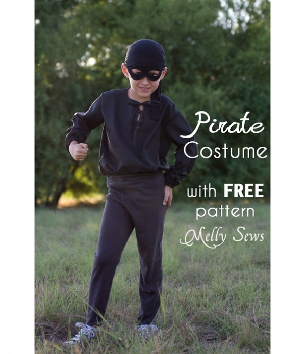 Free pattern: Boys pirate shirt