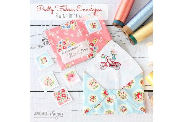 Tutorial: Pretty fabric envelopes