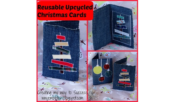 Tutorial: Reusable fabric Christmas cards