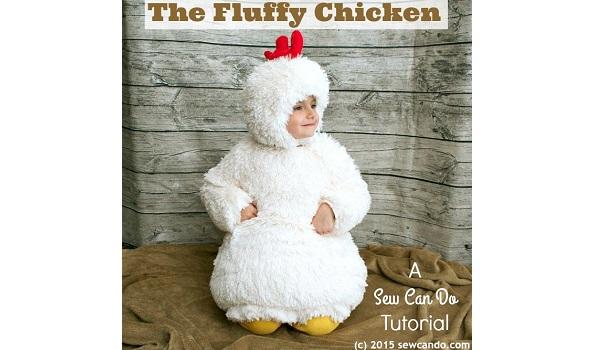 Tutorial: Fluffy chicken Halloween costume
