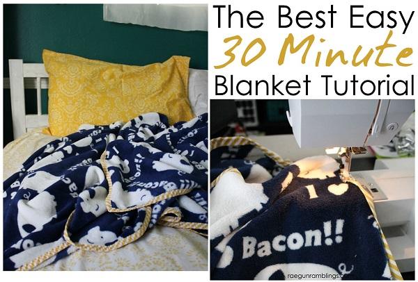 Tutorial: Easy 30 minute blanket