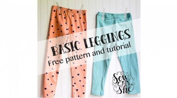 Free pattern: Girls basic leggings