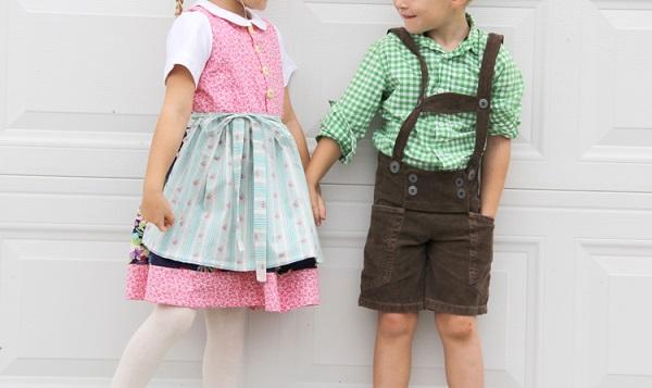 Tutorial: Dirndl and lederhosen costumes for little kids