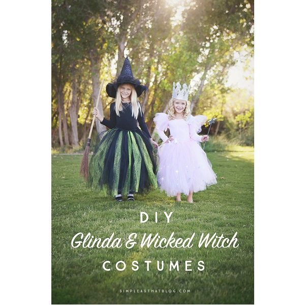 Tutorial: No-sew Glinda and Wicked Witch of the West costumes