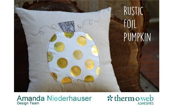 Tutorial: Polka dot pumpkin pillow